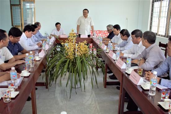 Phó Bí thư Thường trực Tỉnh ủy Lê Kim Toàn làm việc với Trường THPT chuyên Chu Văn An