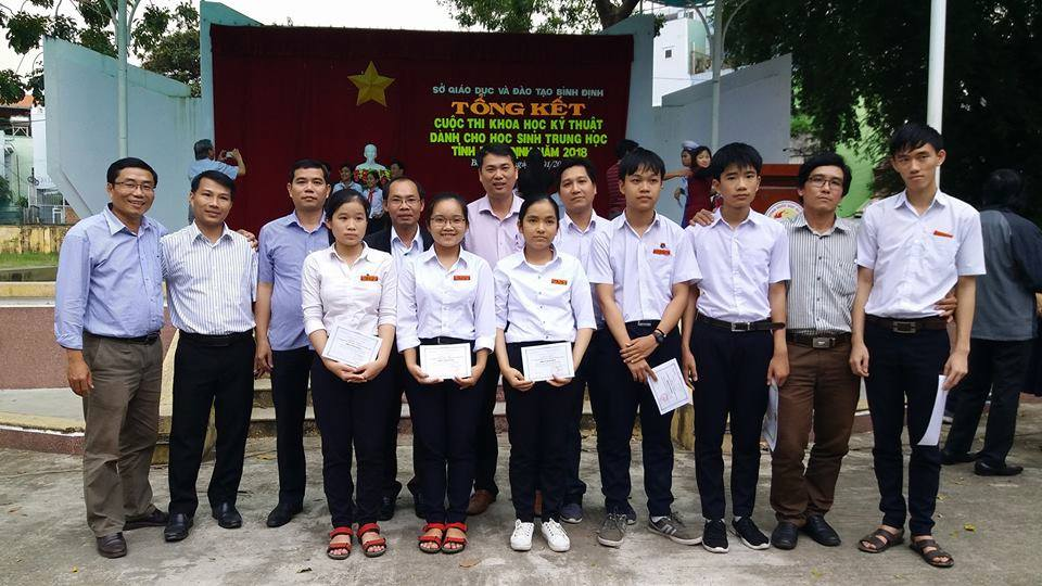 Cuộc thi Khoa học - Kỹ thuật cấp Tỉnh dành cho học sinh trung học năm 2018 của tỉnh Bình Định